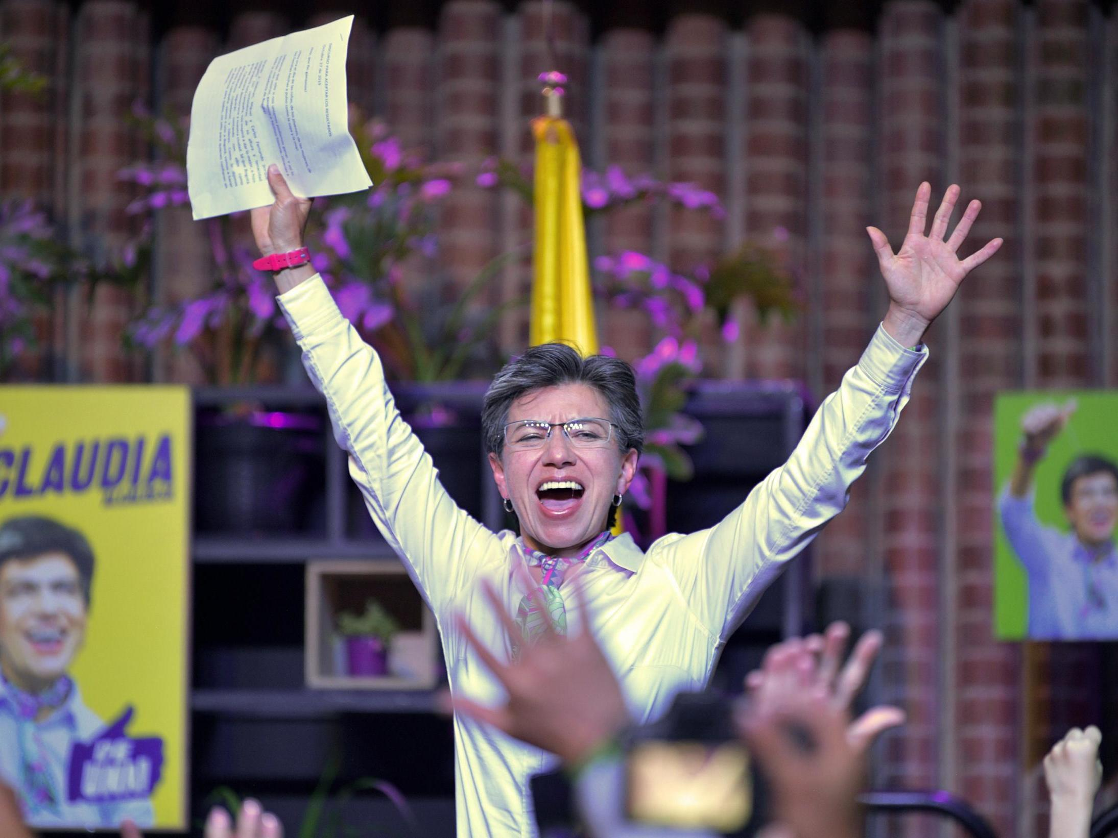First female mayor of Colombia's capital marries same-sex partner